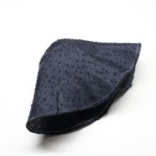 Navy Knotted Sisal Straw Milliner's Flare